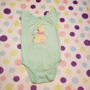 Flutter Sleeve Pooh Bear Bodysuit